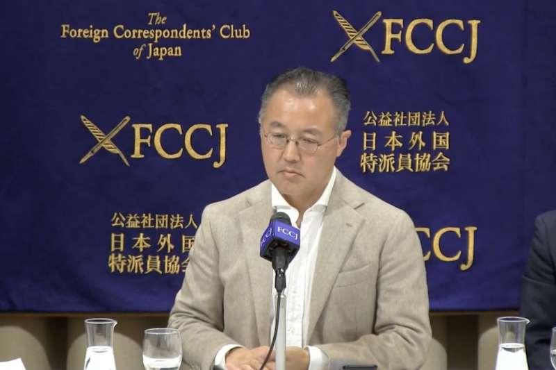 在民事判決出爐後,獲判敗訴的山口敬之在日本外國特派員協會召開記者會喊冤。(翻攝Youtube)