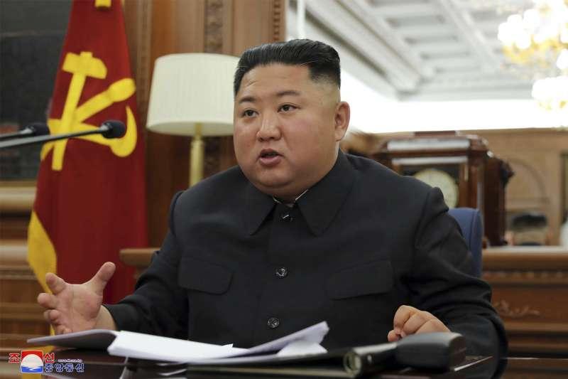 2019年12月22日,北韓最高領導人、國務委員會委員長金正恩召開第七屆黨中央軍事委員會第三次擴大會議(AP)