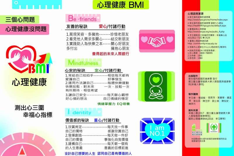 李玉嬋率先提出「心理健康BMI」,作為台灣社會健康心理素質之幸福心指標(圖/李玉嬋 幸福策略心結盟)
