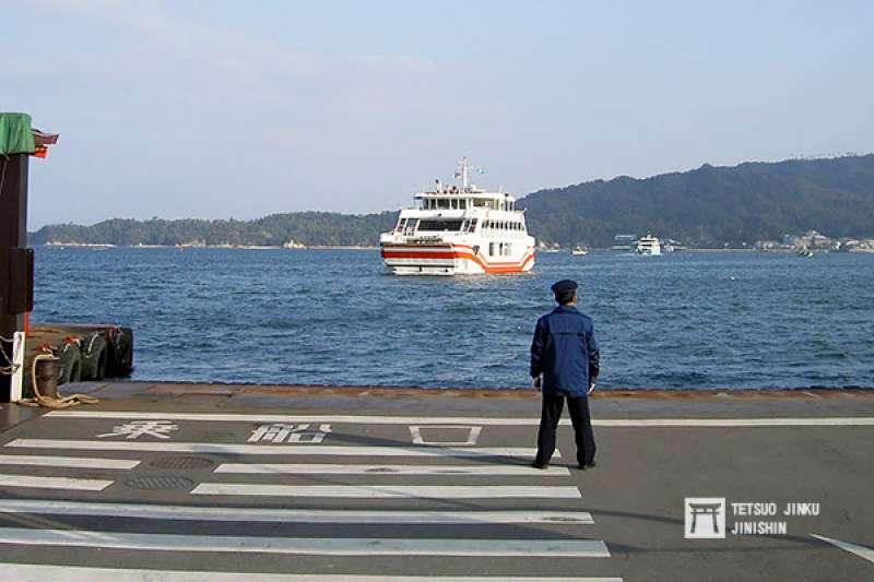 目前唯一由JR營運的宮島航路連絡船。(圖/想想論壇)