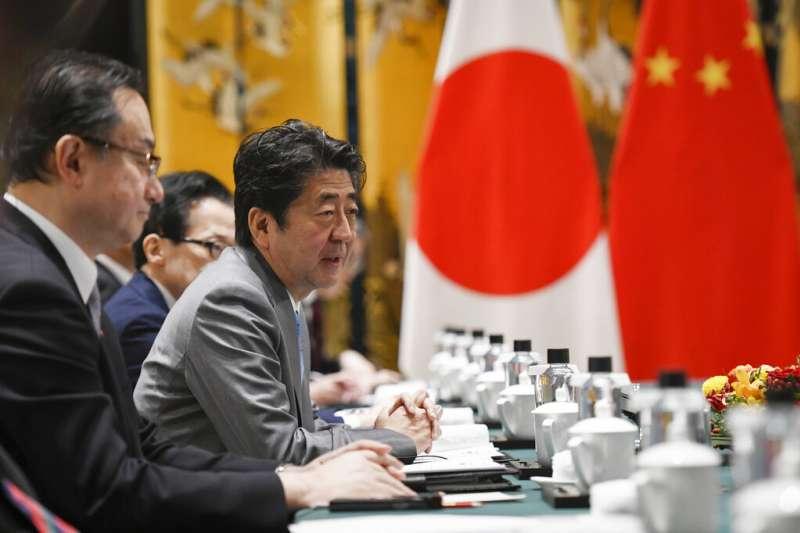 中日關係,日本首相安倍晉三。(美聯社)