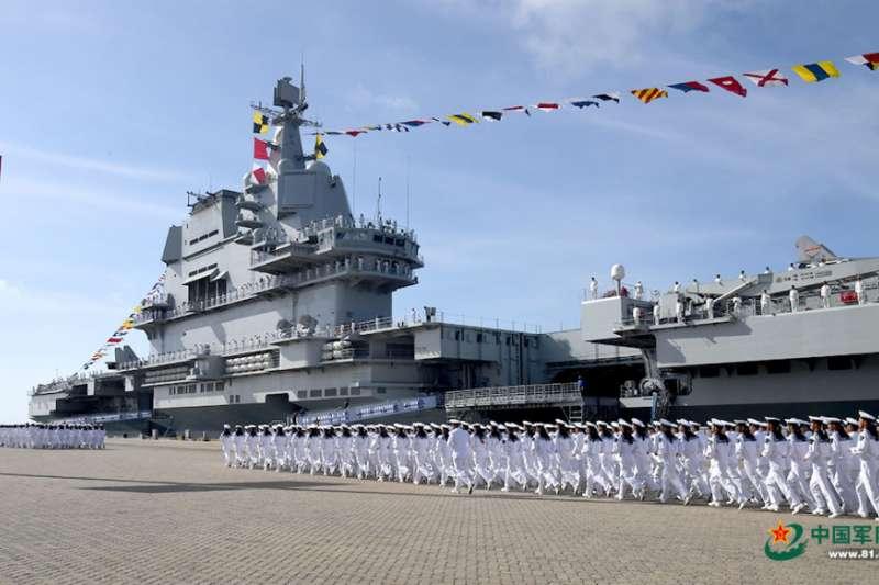中國第一艘自製航母「山東號」。(中國軍網)