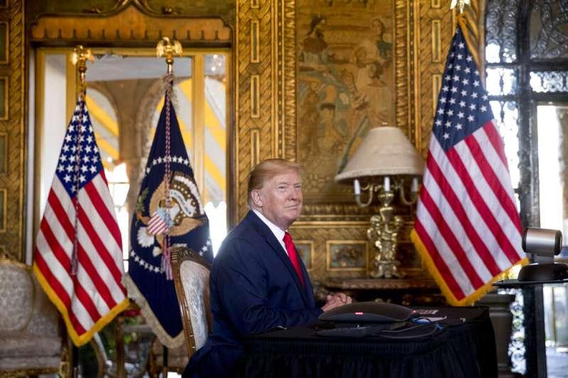 2019年12月24日,美國總統川普談如何處理北韓「耶誕禮物」。(AP)