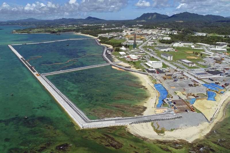 日本沖繩縣名護市的邊野古美軍基地。(美聯社)