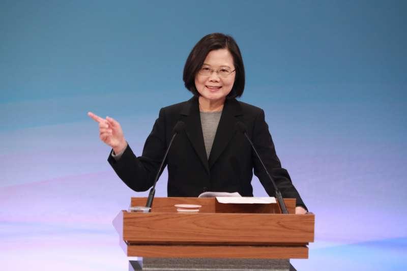 20191229-總統大選唯一1場電視辯論會29日下午登場。圖為總統蔡英文。(台北市攝影記者聯誼會提供)