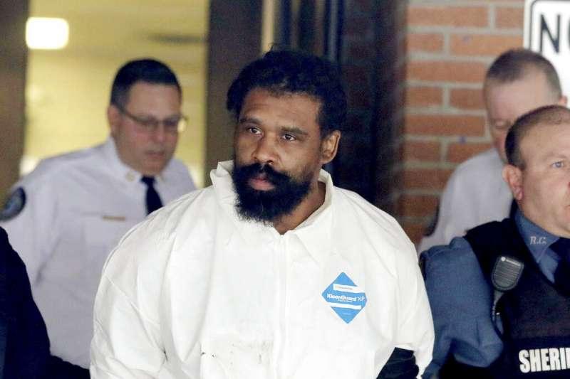 紐約州持刀傷人案的兇嫌湯瑪斯。(美聯社)