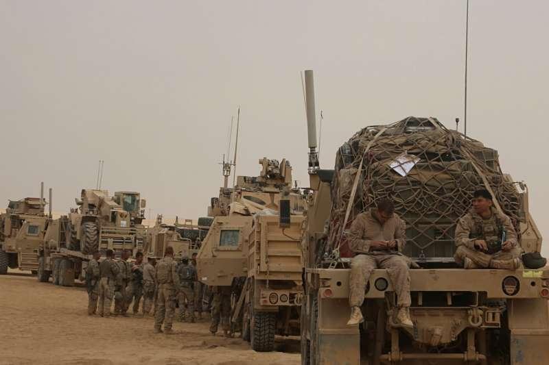 在伊拉克的美軍。(美聯社)