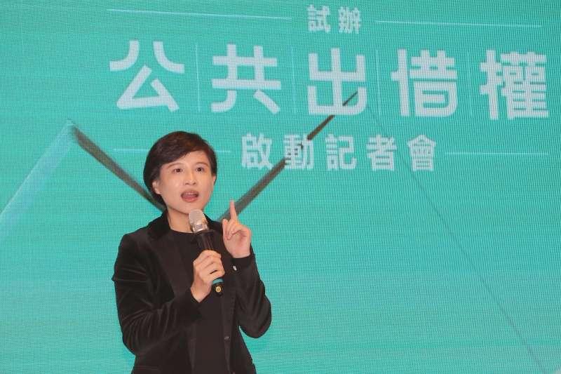 20191231-文化部長鄭麗君31日出席「公共出借權」制度啟動記者會。(教育部提供)