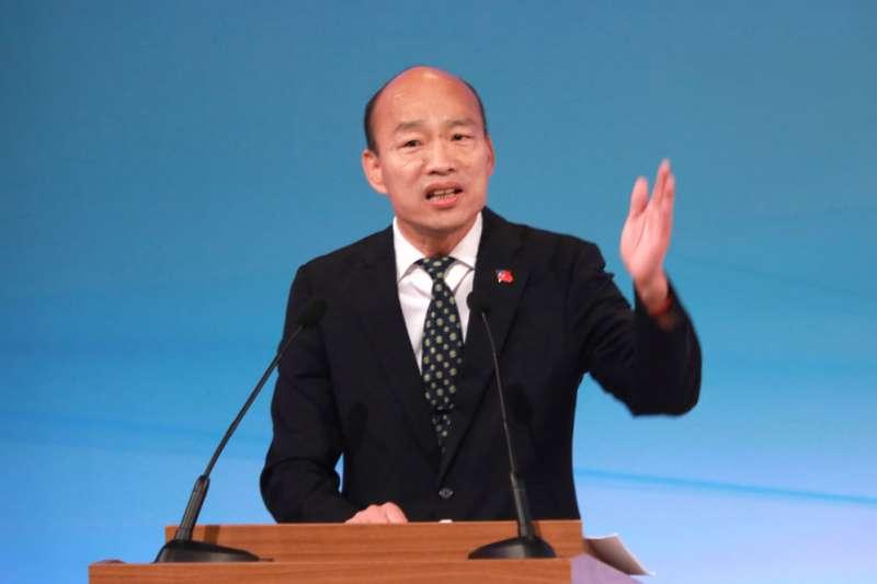 2020年總統大選唯一一場電視辯論會上,韓國瑜雖炮火四射,連媒體都挨駡。(台北市攝影記者聯誼會提供)