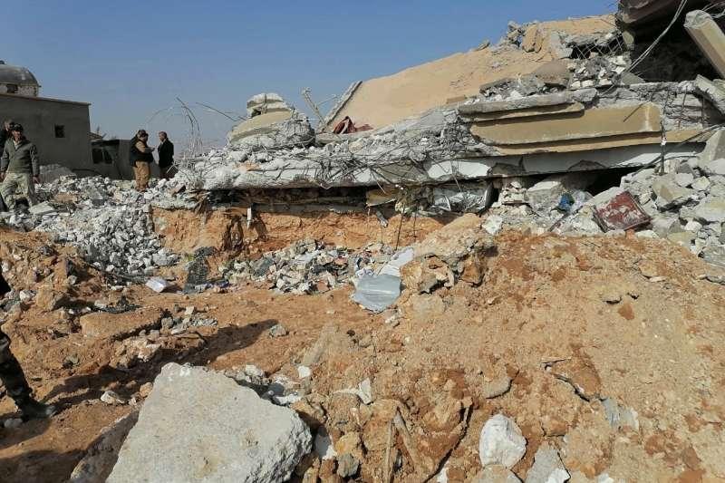 2019年12月29日,美軍空襲什葉派武裝組織「真主黨旅」,以報復27日美軍基地遭受攻擊。(AP)