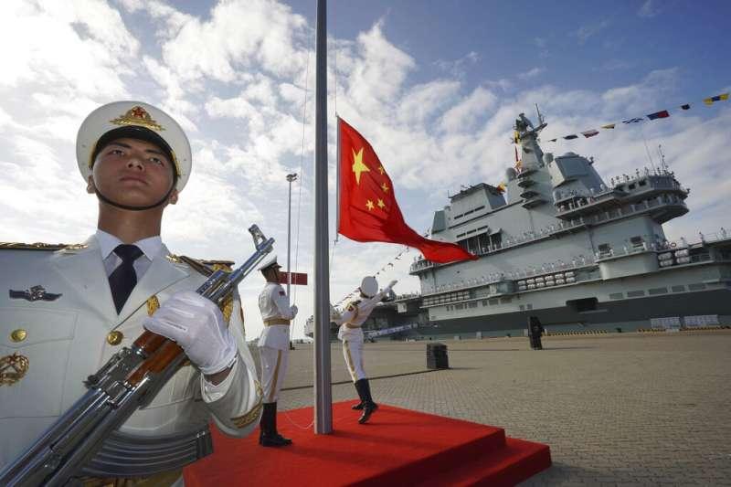 中國第一艘國產航母「山東號」。(美聯社)