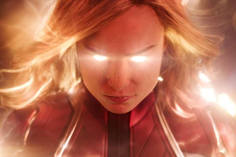 漫威宇宙超級英雄,圖為電影《驚奇隊長》劇照。(AP)