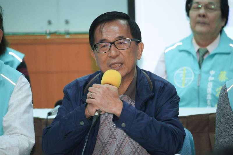 20200103-前總統陳水扁出席一邊一國行動黨「台灣國家與台灣總統命運」影片發佈會,並發表觀後感言。(蔡親傑攝)