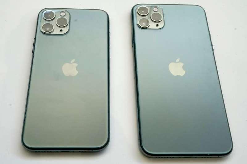 夜幕綠的iPhone 11 Pro和iPhone 11 Pro Max(AP)