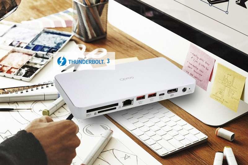 智能家居品牌「Opro9」針對專業影像處理,搶先推出Thunderbolt3最新版Titan Ridge轉接器,可大幅提升工作效率。(圖/Opro9)