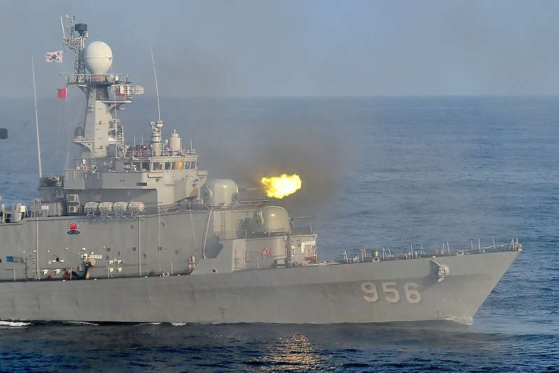 南韓海軍。(美聯社)