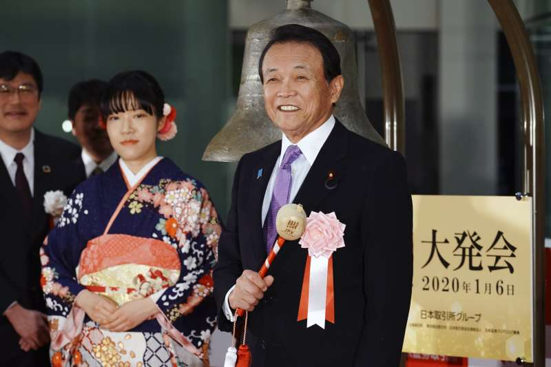 日本副首相兼財務大臣麻生太郎(AP)