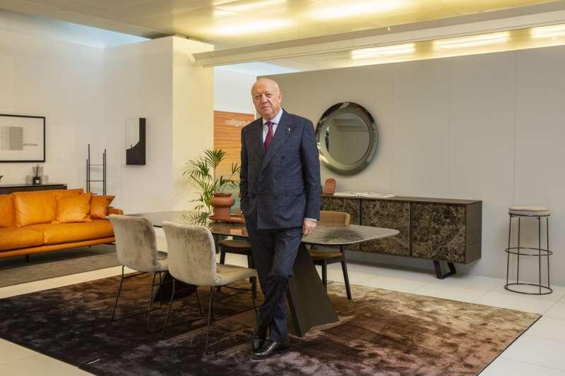 Calligaris 總裁、現年 74 歲的卡利加里斯去年將這間祖父1923年創辦的家具製造公司的80%股份出售給私募股權公司阿爾法集團(Alpha Group)。(FRANCESCA VOLPI FOR THE WALL STREET JOURNAL)
