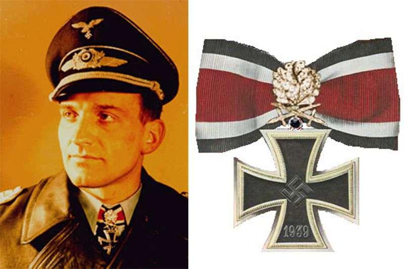 唯一獲得「鑽石金橡葉佩劍騎士鐵十字勳章」的漢斯·魯德爾(圖/維基百科)