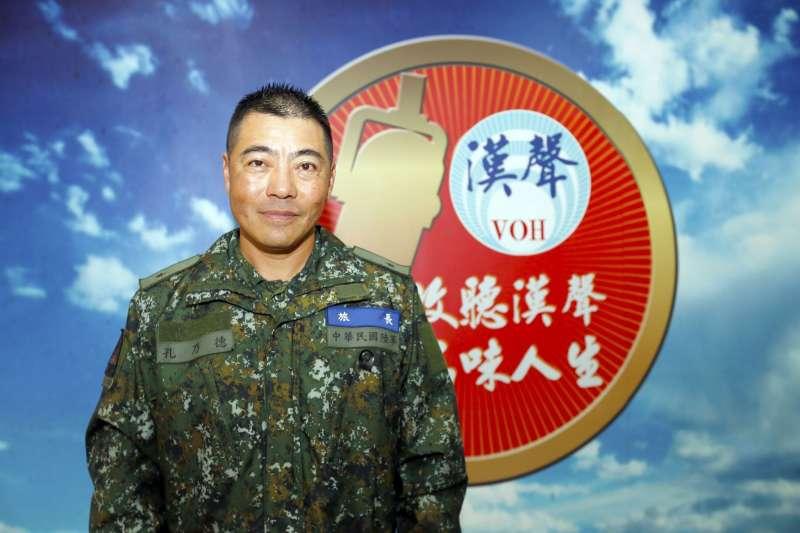 國軍首支「聯合兵種營」陸軍裝甲586旅,由旅長孔乃德少將(見圖)領導。(取自漢聲電台臉書)