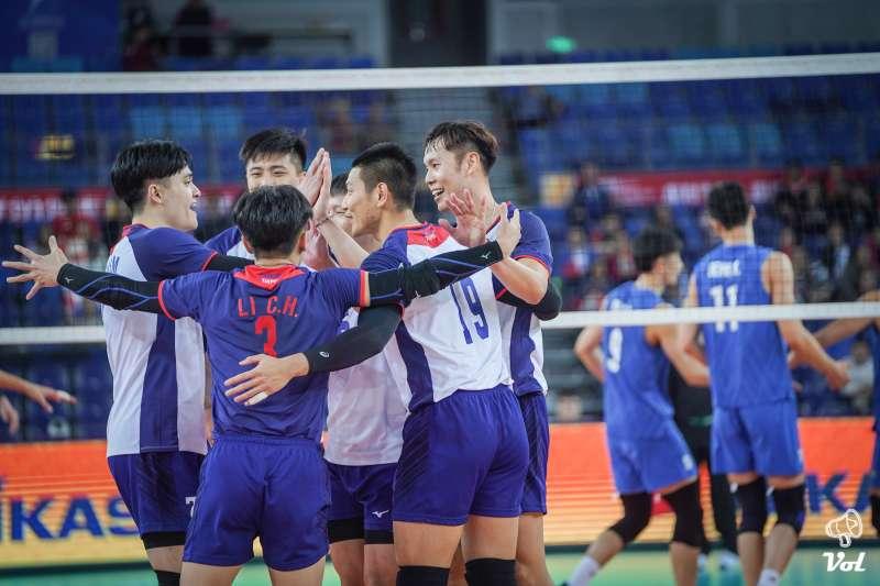 中華男排在奧運亞洲區資格賽,惜敗地主隊中國。(VOL SPORTS提供)