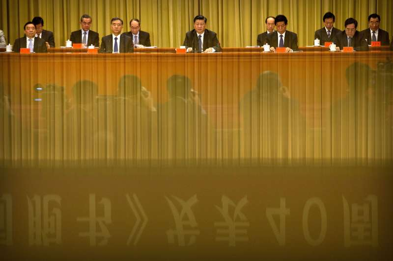中國領導人習近平急欲統一兩岸。(AP)