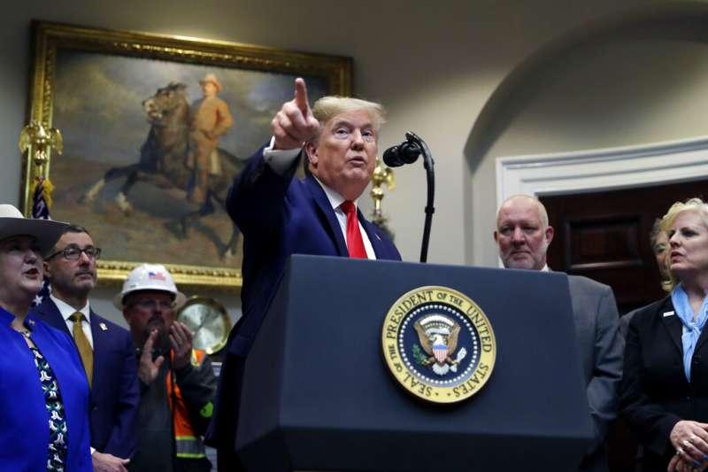 面對2020總統選戰和美中冷戰,川普沒有意思要讓美國在中東泥足深陷。(美聯社)