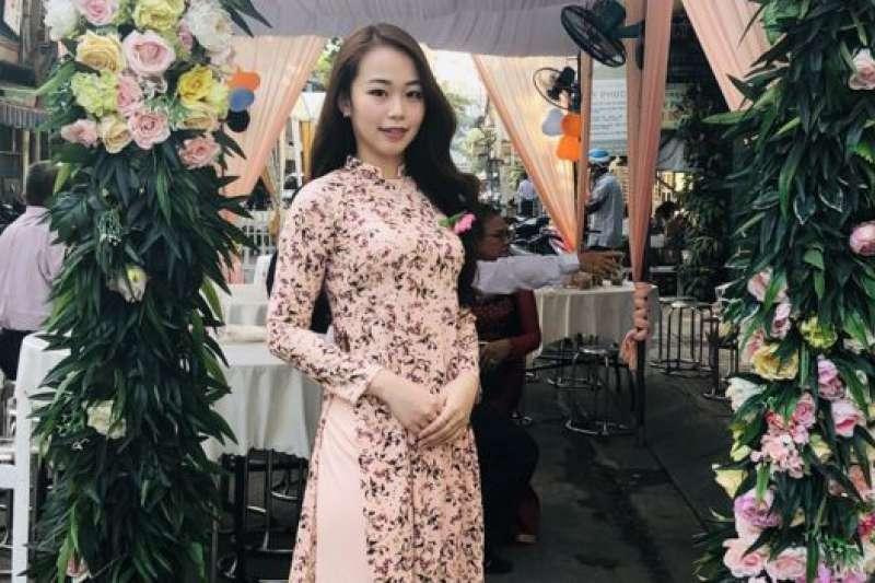 陳金鈴(圖)自小到大在台灣長大,她的媽媽來自越南胡志明市。(BBC中文網)