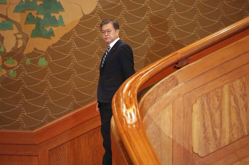 南韓總統文在寅。(美聯社)