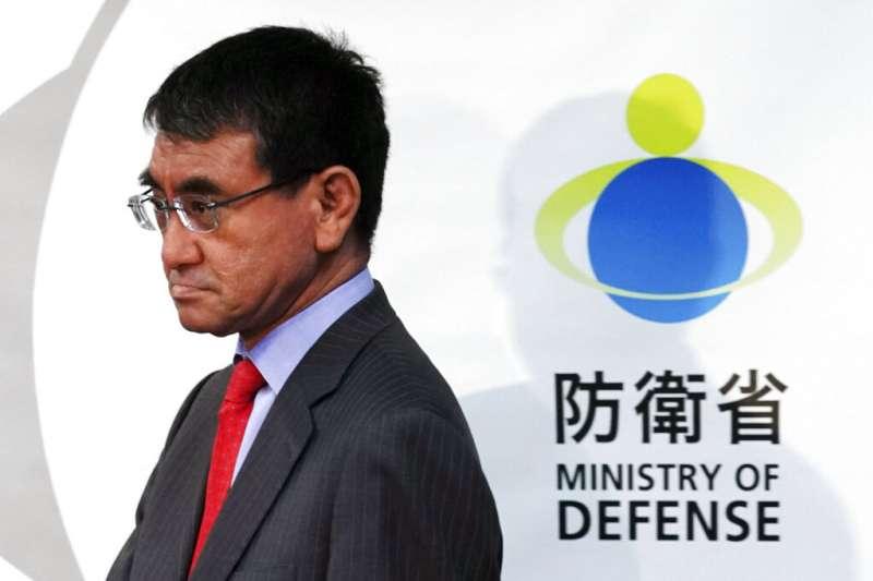 日本防衛大臣河野太郎。(美聯社)