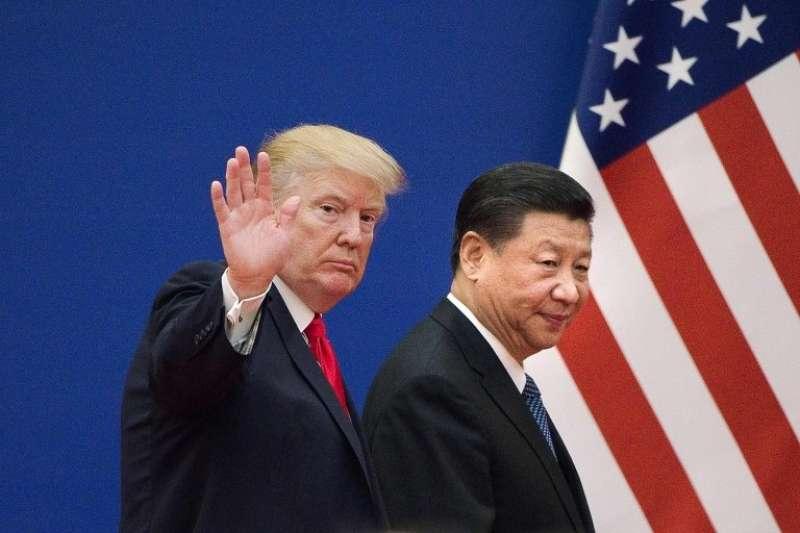 美國總統川普2017年訪問北京時與習近平會面。(BBC中文網)