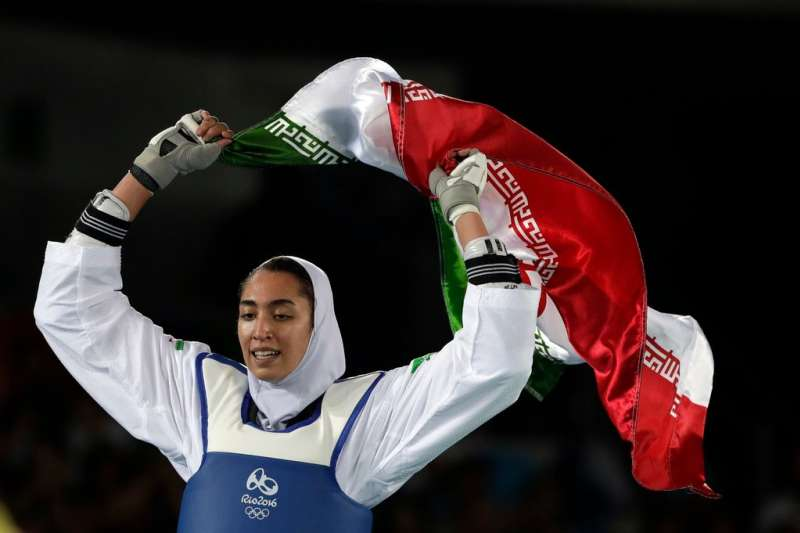 伊朗唯一在奧運奪牌的女子跆拳道選手阿里薩德,在日前宣佈永久離開伊朗,並表明自己不想被政府當作工具。(美聯社)