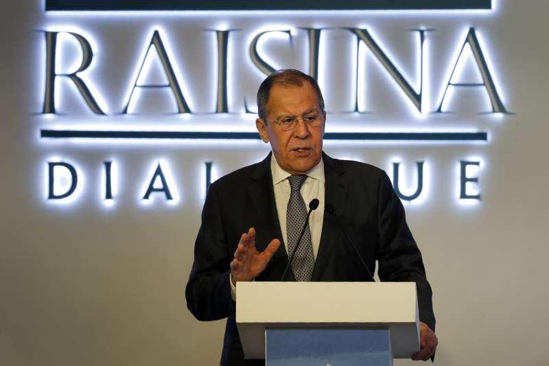 2020印度瑞辛納對話:俄羅斯外長拉夫羅夫(AP)