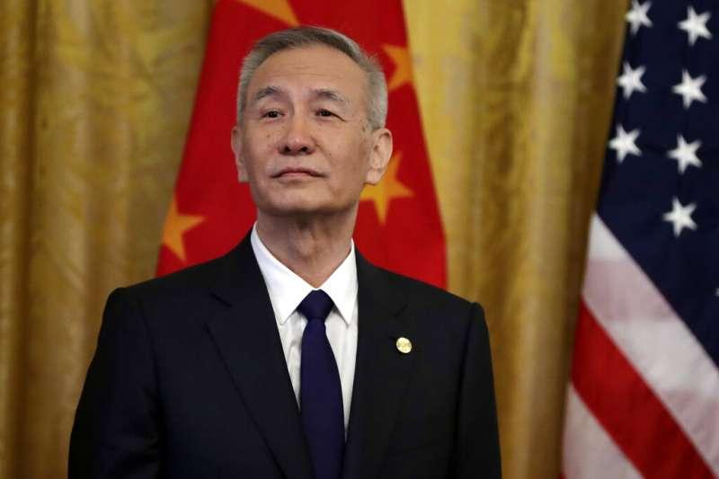 中國國務院副總理劉鶴在白宮。(AP)