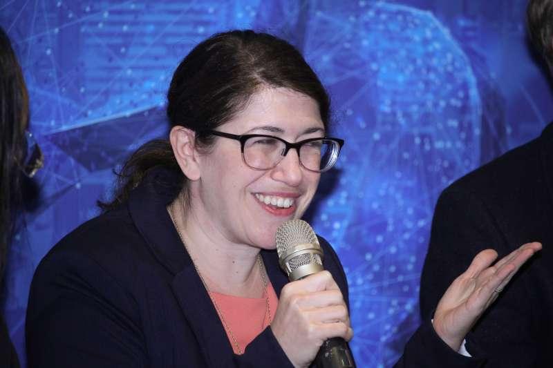 20200117-AIT與外交部合辦「數位對話公共論壇:增進美台人民的關係」座談會,圖為AIT發言人孟雨荷。(蔡親傑攝)