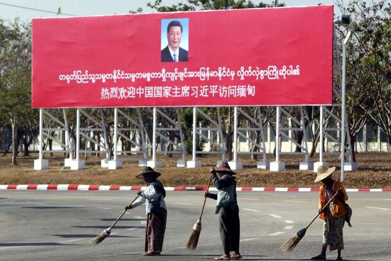 中國國家主席習近平17日開始對緬甸進行國是訪問。(AP)