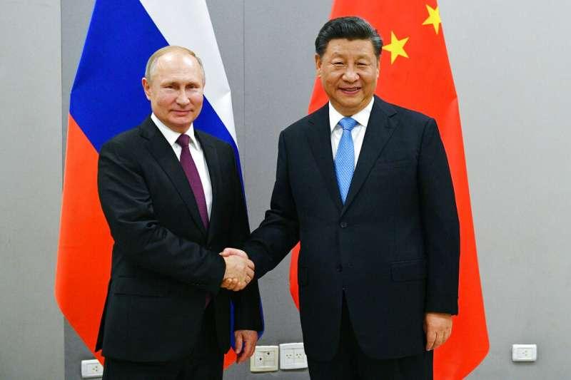 俄羅斯總統普京與中國國家主席習近平。(美聯社)