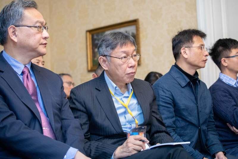目前在歐洲出訪的台北市長柯文哲(見圖)認為,國民黨很多人想接黨主席,只是「夭鬼假細禮」。(資料照,台北市政府提供)