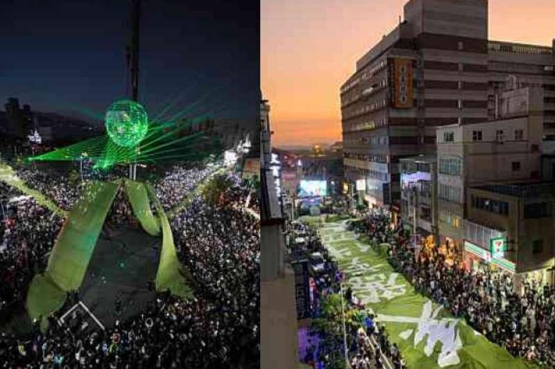 1221Wecare高雄舉辦罷韓遊行,成功讓50萬人上街表達民意。(空照圖/Wecare高雄提供)