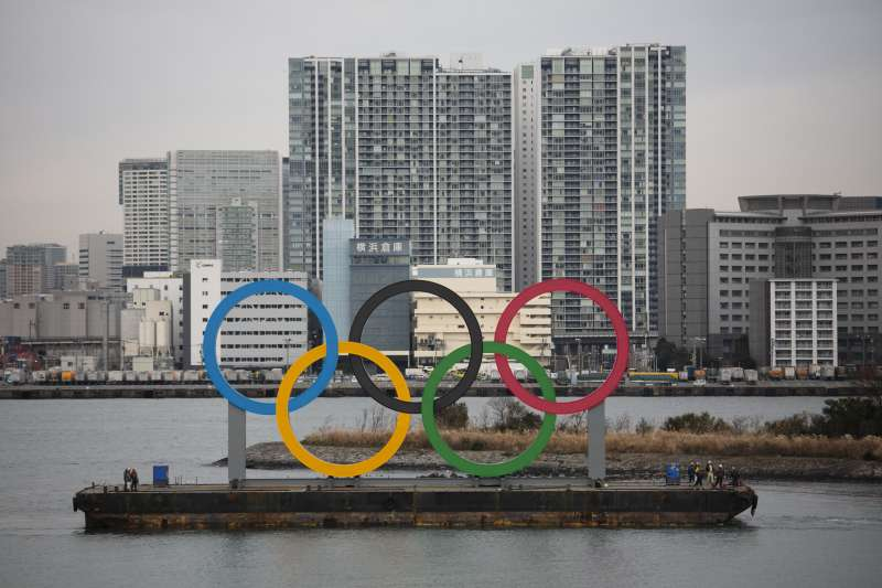 武漢肺炎疫情蔓延,日本東京奧運是否如期舉行成焦點。(美聯社)