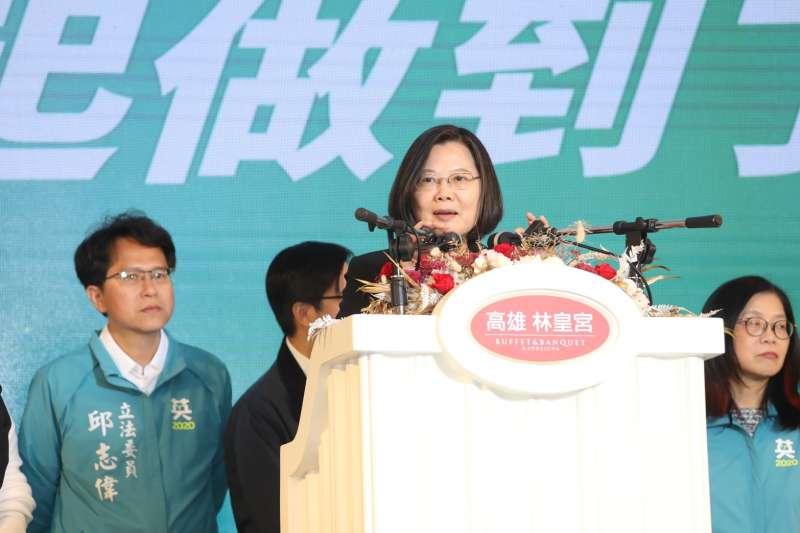 民進黨2度全面執政,台灣人對政府的信心高達6成9,大多數民眾寄予厚望。圖為總統蔡英文。(資料照,蔡英文高雄競總提供)