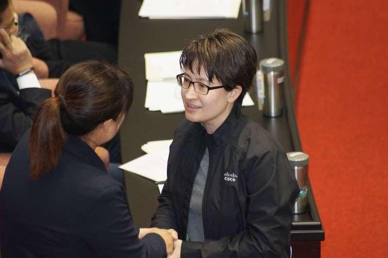 20200120-立委蕭美琴20日出席立法院院會。(盧逸峰攝)