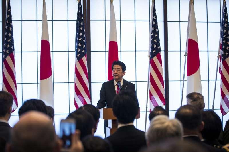 日本首相安倍晉三表示,日本將追隨美國腳步成立太空軍(AP)