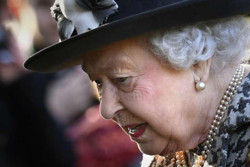 英國女王伊莉莎白二世出席禮拜(資料照,AP)
