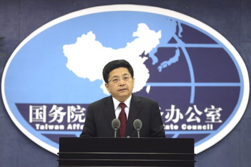 中國國台辦發言人馬曉光選後再提九二共識。(美聯社)