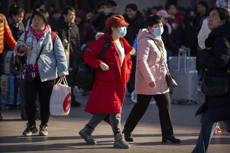 2020年1月春節前夕,武漢肺炎疫情爆發。示意圖。(美聯社)