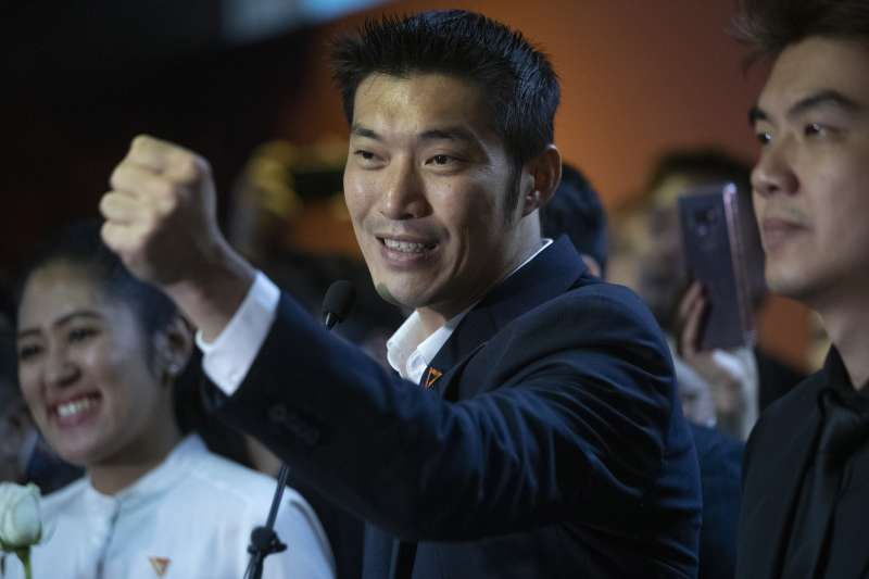 泰國未來前進黨黨魁塔納通(AP)