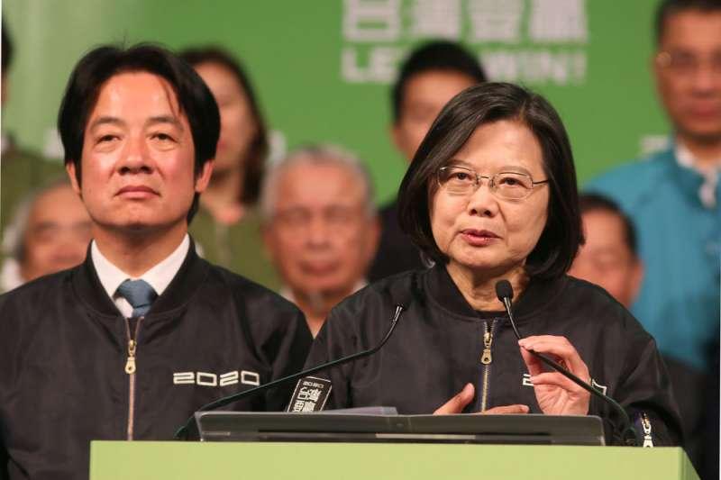 台灣總統選舉英德配獲勝,清晰地顯示了人民不願接受「一國兩制」。(林瑞慶攝)