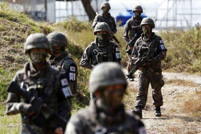 南韓軍隊。(AP)