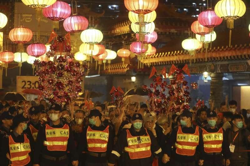 香港反送中示威下的農曆新年(AP)